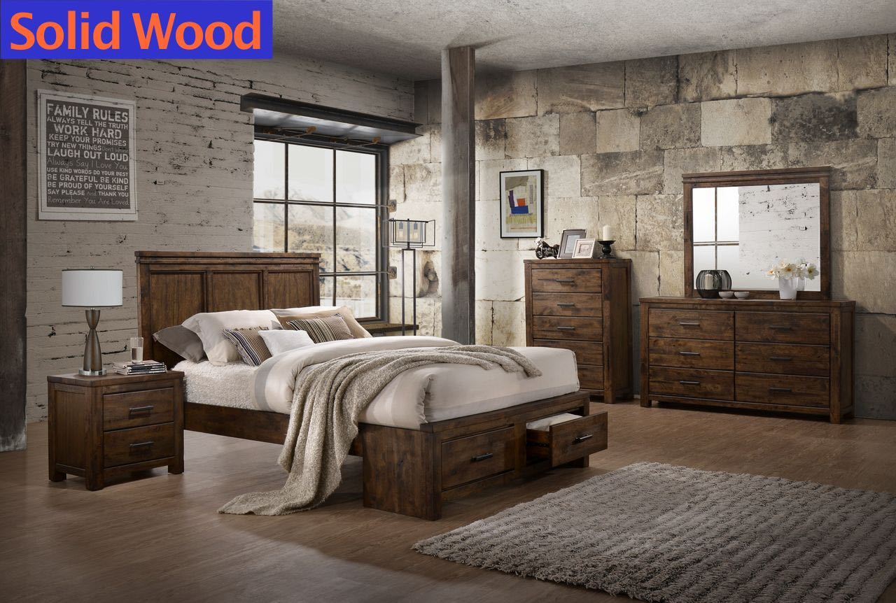 Solid Wood Storage Bedroom Set By Lifestyle Furniture My Furniture Place